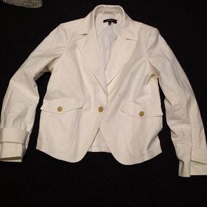 White blazer by Talbots